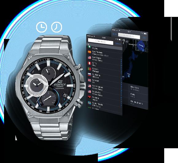 c5639fda3d95 Con la aplicación CASIO Watch+ puedes seleccionar la hora de entre cientos  de ciudades.